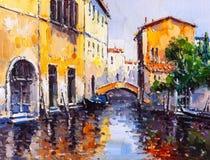 italy obraz olejny Venice Fotografia Stock
