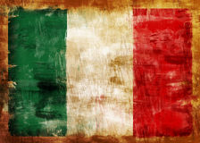 ITALY old painted flag Royalty Free Stock Photography