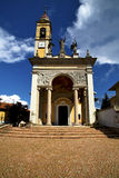 Italy   the old wall terrace church watch bell tower Stock Photography