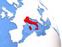 Italy On Elegant Globe Royalty Free Stock Images