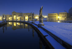 Italy, Padua - Prato della Valle square by night Royalty Free Stock Photos