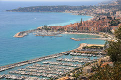 Italy. Panorama de San Remo Foto de Stock Royalty Free