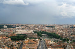 italy panorama- rome roofs sikt Royaltyfria Bilder