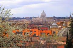italy panorama- rome sikt arkivfoto