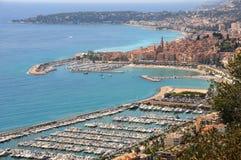 Italy. Panorama of San Remo. City royalty free stock photo