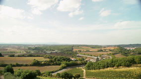 Italy. Panorama of Tuscan landscape.  stock video footage