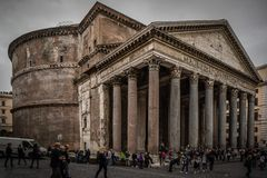Pantheon History City Rome Empire royalty free stock photo