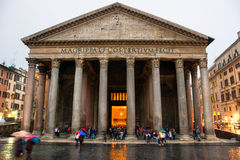 italy pantheon rome Arkivbilder