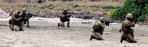 Italy, paratroopers military exercises department  Stock Image
