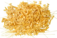 Italy Pasta Food Italian. The Pasta Italiana / Isolated / White Background Stock Image