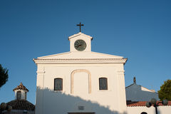 Italy, peschici, the facade of a church Stock Photo