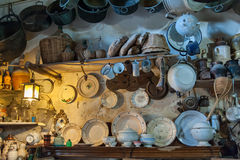 Italy, peschici, inside of a traditional kitchen Stock Images