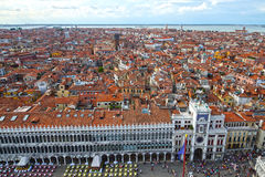 Italy. Piazza San Marco in Venice, view from the bell tower. Stock Photo