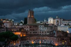 Piazza Venezia Skyline History City Rome Empire royalty free stock images