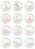 italy pieczętuje znaczki Fotografia Stock