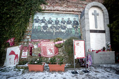 Italy, Piedmont, Superga basilica, Torino football memorial Royalty Free Stock Images