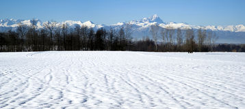 Italy, Piedmont. A view the mountain range of the Cottian Alps Stock Image