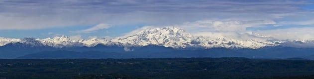 Italy, Piemonte, alpes italianos Imagem de Stock