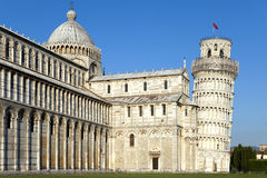 Italy, Pisa. The Cathedral and the Leaning Tower in Cathedral Square Royalty Free Stock Photography