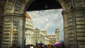Italy,Pisa,Piazza dei Miracoli (Square of Miracles). Italy,Pisa, Piazza dei Miracoli (Italian: Square of Miracles)-Baptistery and Cathedral Duomo & Leaning Tower royalty free stock photo