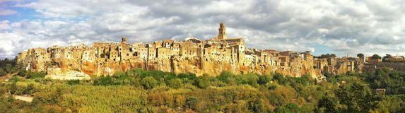 The ancient hill town of Pitigliano stock photography