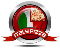 Italy Pizza - Metal Icon Stock Images