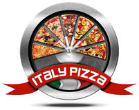 Italy Pizza - Metal Icon Royalty Free Stock Photography
