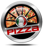 Italy Pizza - Metal Icon Royalty Free Stock Photo