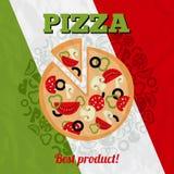 Italy pizza poster Royalty Free Stock Photos