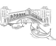 italy plats venice stock illustrationer