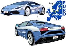 Italy Police Car Stock Photography