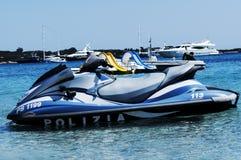 Italy police jet ski Stock Photo