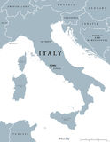 Italy political map Royalty Free Stock Photography