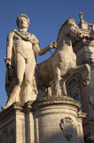 italy pollux rome staty Arkivbilder