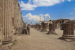italy pompei royaltyfria bilder