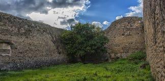 italy Pompei 02,01,2018 Dom antyczne Romańskie ruiny, Zdjęcie Stock