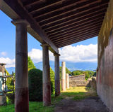 italy pompeii Arkivfoton