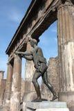 italy pompeii tempel Arkivfoton