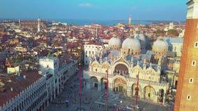 italy powietrzny widok Venice zbiory wideo