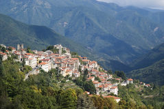 Italy. Province of Imperia. Ancient medieval village Triora stock images