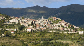 Italy. Province of Imperia. Medieval village Triora royalty free stock photo