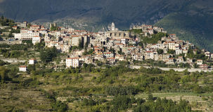 Italy. Province of Imperia. Medieval village Triora Stock Photos