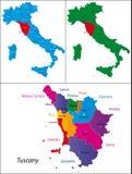 italy region tuscany vektor illustrationer