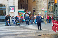 Italy road policeman Royalty Free Stock Photography