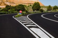 Road signals. Grafting road Stock Photo