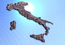 Italy rocky map Royalty Free Stock Images