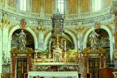 Italy roma Interiores cristãos da catedral Fotos de Stock Royalty Free