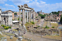 Italy. Roman Forum Stock Photo