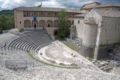 italy roman theatre arkivbild