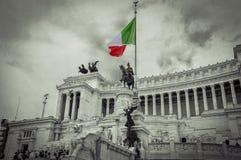 Italy,Rome, Altare della Patria(Altar of the Fatherland). Italy,Rome, Altare della Patria (Monumento Nazionale a Vittorio Emanuele II )sephia with the colored royalty free stock photo